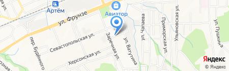 Даурия на карте Артёма