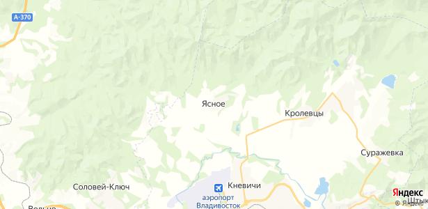 Ясное на карте