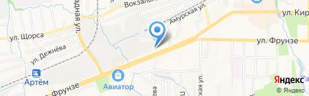 Шиномонтажная мастерская на карте Артёма