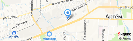 Автотонировка на карте Артёма