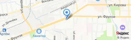 Журавушка на карте Артёма