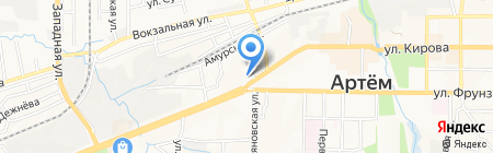 Банкомат Райффайзенбанк на карте Артёма