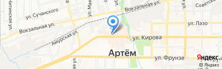 Глория на карте Артёма