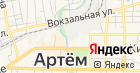 Артемовский на карте