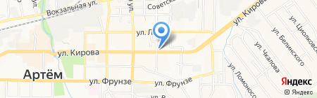 Юником на карте Артёма