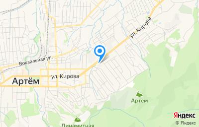 Местоположение на карте пункта техосмотра по адресу Приморский край, г Артем, ул Кирова, д 64/1