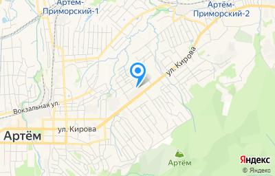 Местоположение на карте пункта техосмотра по адресу Приморский край, г Артем, ул Калинина, д 20
