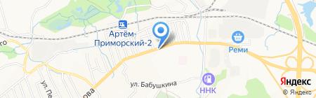 Вино-водочный магазин на карте Артёма