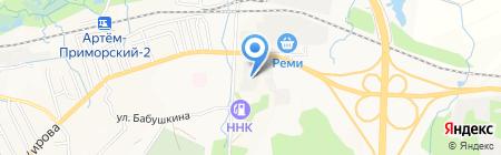 Сарбон на карте Артёма