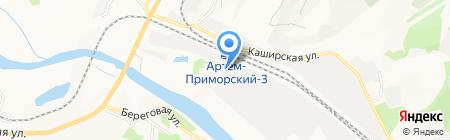 Анкувер на карте Артёма