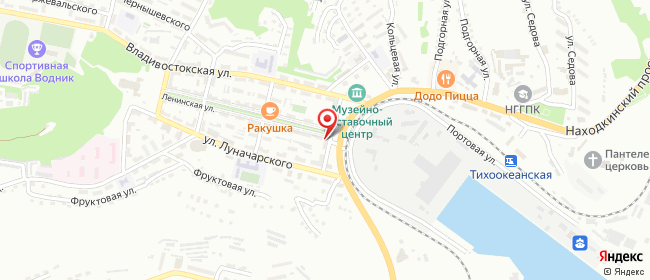 Карта расположения пункта доставки Ростелеком в городе Находка