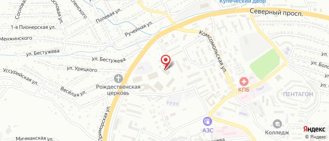 Карта расположения пункта доставки DPD Pickup в городе Находка