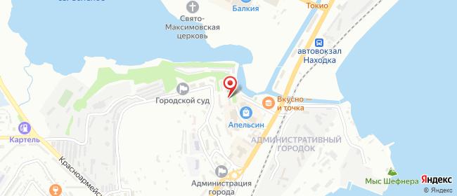Карта расположения пункта доставки Westfalika в городе Находка
