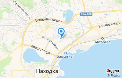 Местоположение на карте пункта техосмотра по адресу Приморский край, г Находка, пер Безымянный, д 1