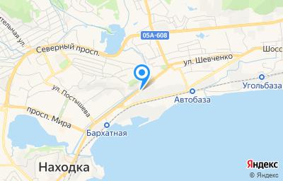 Местоположение на карте пункта техосмотра по адресу Приморский край, г Находка, пр-кт Находкинский, д 1В