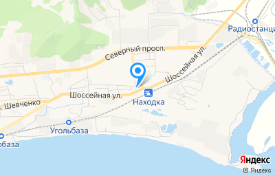 Местоположение на карте пункта техосмотра по адресу Приморский край, г Находка, ул Шоссейная, д 173А стр 1