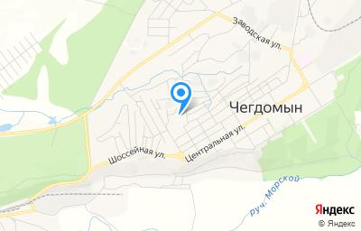 Местоположение на карте пункта техосмотра по адресу Хабаровский край, рп Чегдомын, ул Торговая, д 27