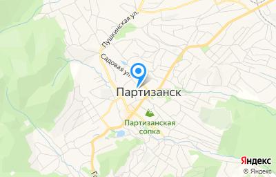 Местоположение на карте пункта техосмотра по адресу Приморский край, г Партизанск, ул Больничная, д 8