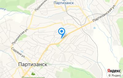 Местоположение на карте пункта техосмотра по адресу Приморский край, г Партизанск, ул Партизанская, д 1Д