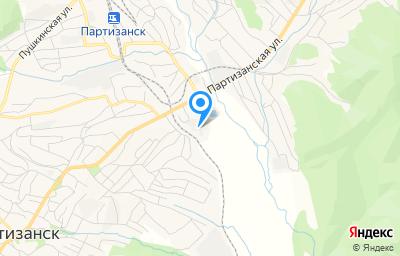 Местоположение на карте пункта техосмотра по адресу Приморский край, г Партизанск, ул Петра Кашина, д 60