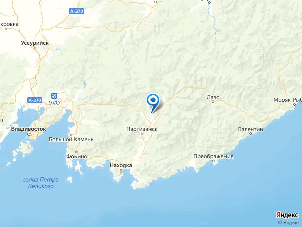 село Авангард на карте