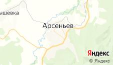 Отели города Арсеньев на карте