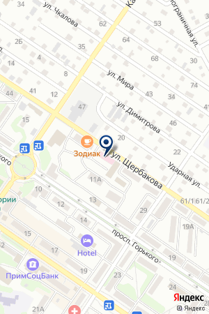АПТЕЧНЫЙ СКЛАД на карте Арсеньева