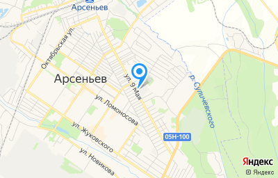Местоположение на карте пункта техосмотра по адресу Приморский край, г Арсеньев, ул 9 Мая, д 73А