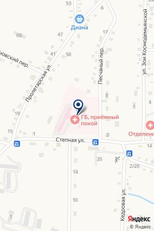 БОЛЬНИЦА ГОРОДСКАЯ № 1 на карте Лесозаводска