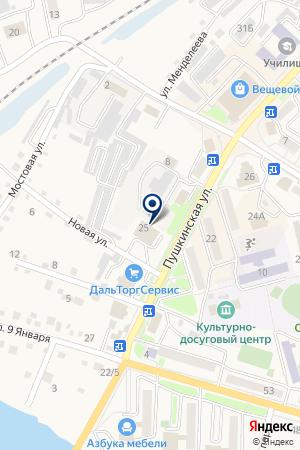 КОНСУМ-МИДЖИН на карте Лесозаводска