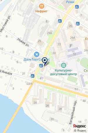 ЛЕСОЗАВОДСКИЙ ФИЛИАЛ КБ ВОСТОКБИЗНЕСБАНК на карте Лесозаводска