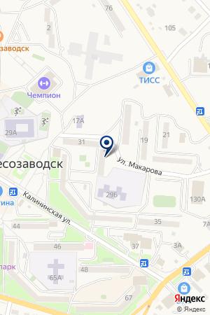 ЛЕСОЗАВОДСКАЯ ТЕРРИТОРИАЛЬНАЯ ОРГАНИЗАЦИЯ ВСЕРОССИЙСКОЕ ОБЩЕСТВО СЛЕПЫХ на карте Лесозаводска