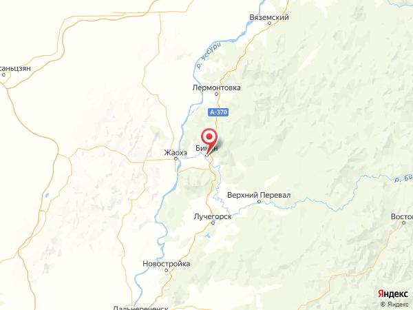 Бикин на карте