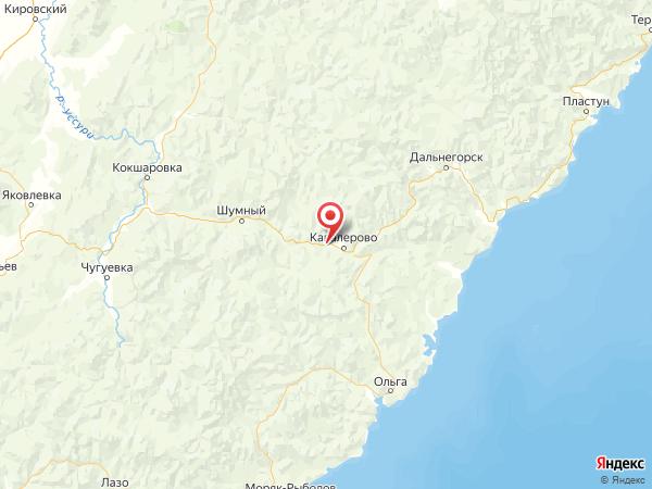 поселок городского типа Рудный на карте
