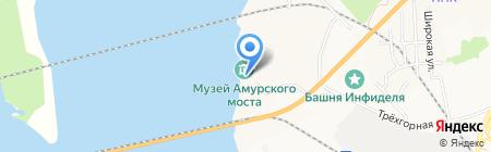 Музей истории Амурского моста на карте Хабаровска