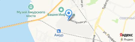 Амурский район электроснабжения Хабаровской дистанции электроснабжения ДВЖД на карте Хабаровска
