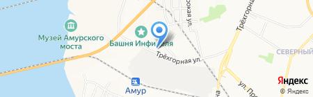 Детский сад №18 на карте Хабаровска