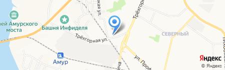 Отделение почтовой связи №54 на карте Хабаровска