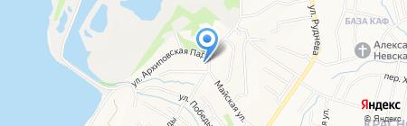 Средняя общеобразовательная школа №58 на карте Хабаровска