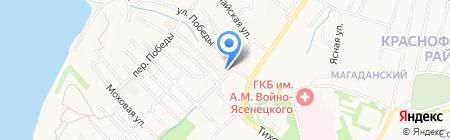 Апельсин на карте Хабаровска
