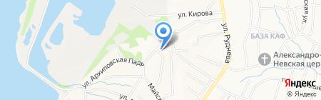 Вудлайн на карте Хабаровска