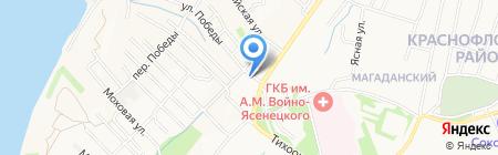 Март на карте Хабаровска