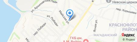 Детская городская клиническая поликлиника №3 на карте Хабаровска