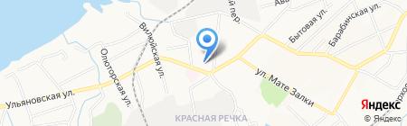 Рэд Ривер на карте Хабаровска