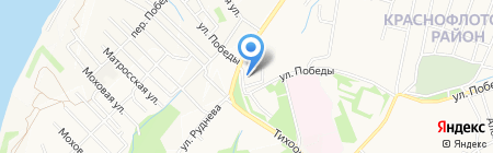 Барс на карте Хабаровска