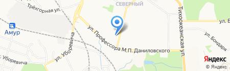 Яхонт на карте Хабаровска