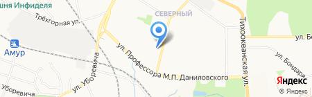 Нк-Дент на карте Хабаровска