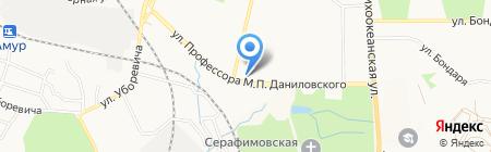 Золотая Рыбка на карте Хабаровска