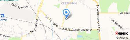 Чародейка на карте Хабаровска