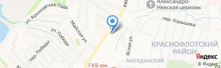 Вита на карте Хабаровска